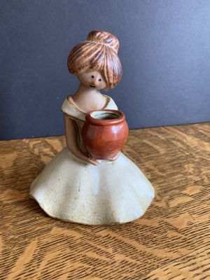 Used, Vintage UCTCI Stoneware Girl Holding Pot Japan Figurine for Sale for sale  Brooklyn Center, MN