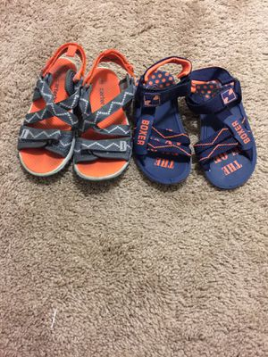 Kids toddler boys sandals size 10 - 11 like new condition for both $20. Price firm for Sale in San Diego, CA