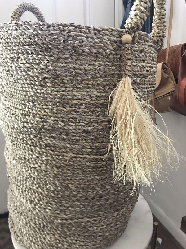 Large, woven plant basket