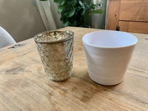 Set of 2 Votives / Vases for Sale in Charlotte, NC
