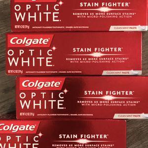 Colgate optic white clean mint toothpaste $2 each for Sale in San Bernardino, CA