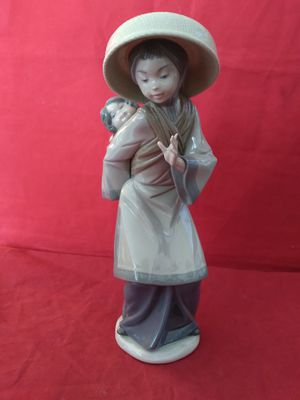 "LLADRO #5123 CHINESE WOMAN WITH BABY FINE PORCELAIN FIGURINE 10"" TALL IN ORIG BOX for Sale in Pompano Beach, FL"
