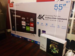 55in TCL 4K Flat TV with Roku brand new for Sale in Dallas, TX