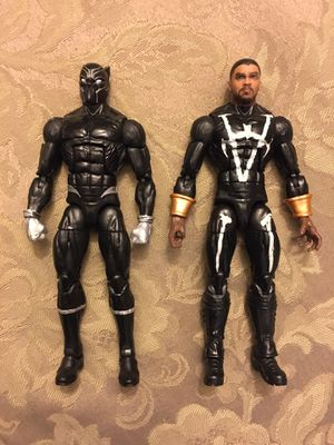 Marvel Legends fodder lot black panther head MCU kit bash for Sale in Wichita, KS