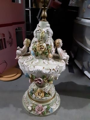 Antique Italian gold plated lamp made in Milan Italy for Sale in Waveland, MS