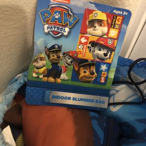 Paw Patrol Sleeping Bag With Storage Bag for Sale in Rancho Cucamonga, CA