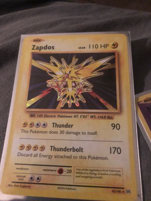 Xy evolution zapdos and mew from 2016 for Sale in Garden Grove, CA