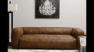 Diva Outback Bridle 8' Down Leather Sofa for Sale in Scottsdale, AZ