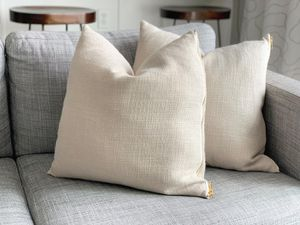 (2) Linen + Gold throw pillows for Sale in Auburn, WA