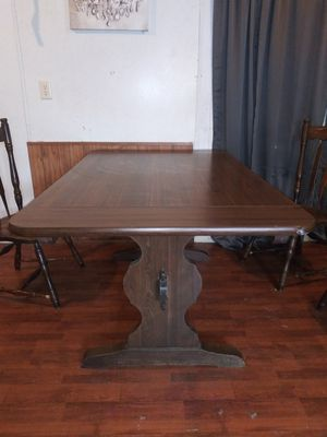 Wood kitchen table w/leaf for Sale in Roman Forest, TX