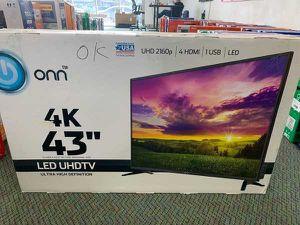 """Brand New ONN 43"""" 4K UHD TV! W/ warranty. Open box U4K9 for Sale in Redondo Beach, CA"""