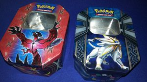 2 collectible Pokemon metal tins $3 takes both for Sale in Garland, TX