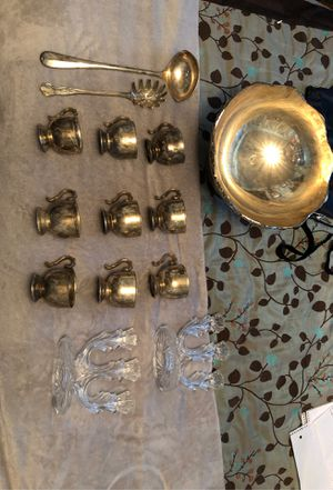 Brass items and two crystal candelabras for Sale in Federal Way, WA