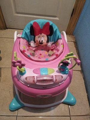 Disney Minnie Mouse Music & Lights Walker - Glitter Minnie 2 in 1 for Sale in San Antonio, TX