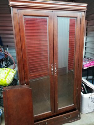 Wood Storage Display cabinet for Sale in Montclair, VA