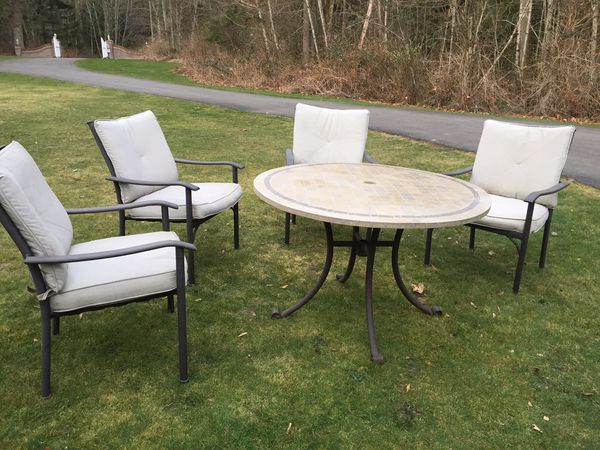 Patio outdoor furniture dining set