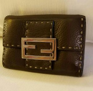 FENDI Wallet Brown Leather Made In Italy for Sale in Houston, TX