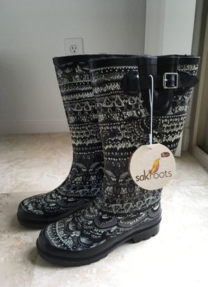 Sakroots Rain Boots (size 6) for Sale in San Diego, CA