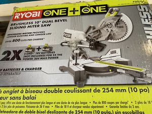 New Ryobi brushless 10 inch miter saw $245 for Sale in Boston, MA