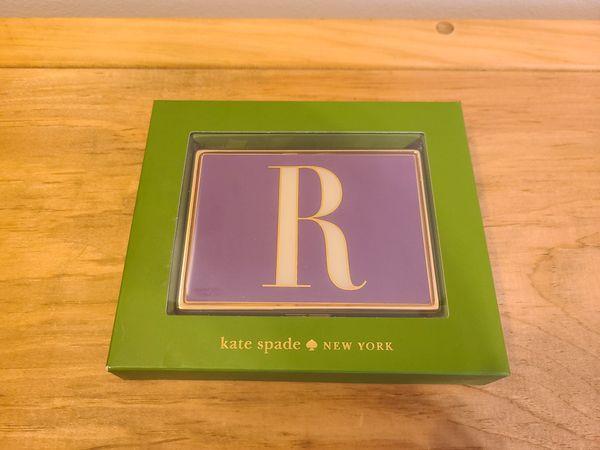 "Monogrammed ""R"" ID Holder Kate Spade"