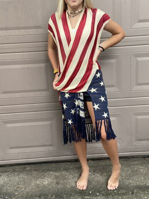 NEW American Flag Maxi Cardigan for Sale in Conroe, TX