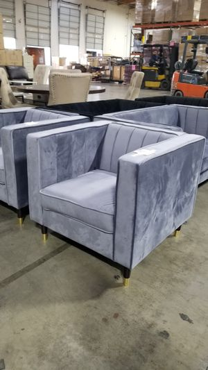 Gray Velvet Accent Chairs for Sale in Chino, CA