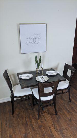 Espresso dinette table and chairs for Sale in La Mirada, CA