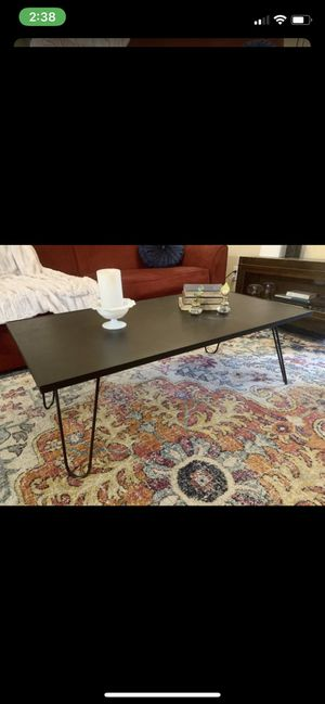 Vintage hairpin coffee table, wood top for Sale in Kent, WA