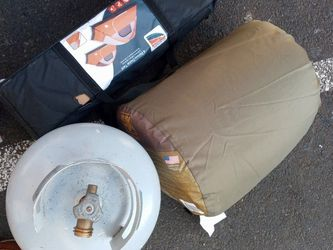 Camping Gear. 6 Person Tent. Cold Weather Big Sleeping Bag And A Tank Of Propane. for Sale in Tacoma,  WA