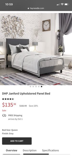Upulstered Grey Twin bed. for Sale in Seattle, WA