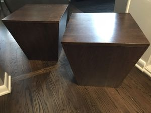 Two Side Tables/End Tables with inside storage for Sale in Chicago, IL
