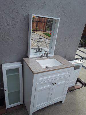 Bathroom sink + mirror + cabinets for Sale in San Lorenzo, CA