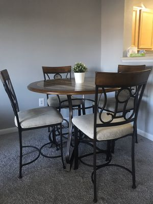 Wood Dining Set 4 Chair Ashley Furniture for Sale in Herndon, VA
