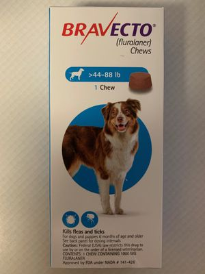 Bravecto flea and tick pill for med to large dog for Sale in NJ, US