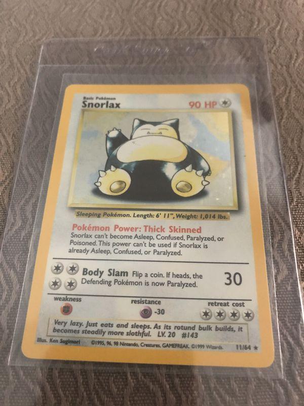 Snorlax 11/64 Pokemon card