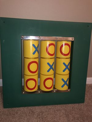 Tic-Tac-Toe Play-set for little kids (no screws) room decoration game for Sale in BROOKSIDE VL, TX