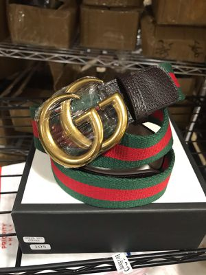 GUCCI GG NYLON WEB BELT WITH SMALL LEATHER for Sale in Ronkonkoma, NY