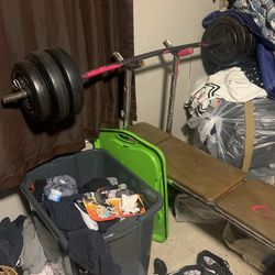 Bench Press And Weights for Sale in Dallas,  TX