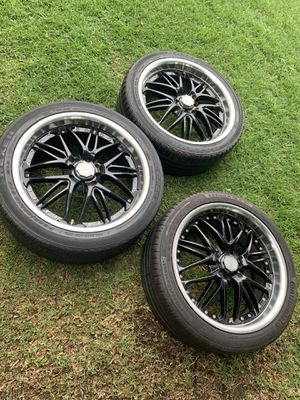 """18"""" rims & tires $200 3 only for Sale in Los Angeles, CA"""