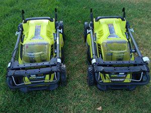 Two new Ryobi 20in lawn mower for Sale in Rancho Cucamonga, CA