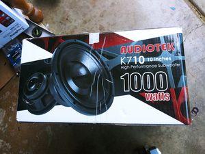 Audiotek K710 1000w 10 inch Subwoofer for Sale in Rancho Cordova, CA