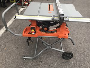 "Ridgid table saw 10"" for Sale in North Las Vegas, NV"