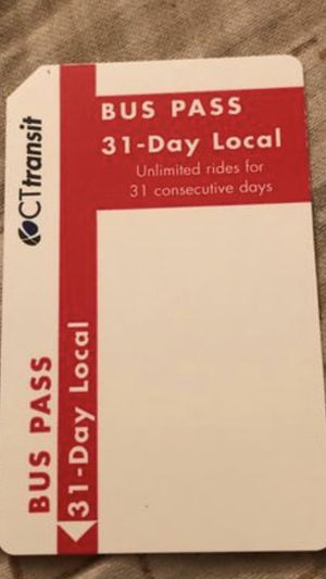 CT 31 Day Bus Card For Sale $50 or BEST OFFER for Sale in East Hartford, CT