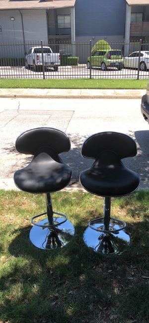 Black leather bar stools for Sale in Dallas, TX