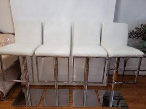 Bar Stool Set Off White and Silver $200 for Sale in Weehawken, NJ