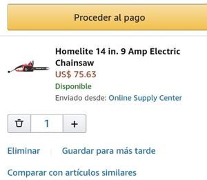 Electric chainsaw for Sale in Parlier, CA