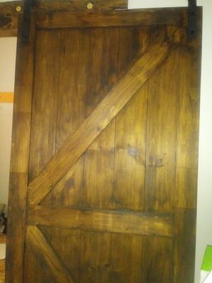 Barn door with track for Sale in Gary, IN