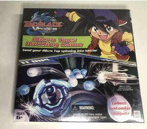 NEW BEYBLADE VFORCE - Micro Tops Battling Game By Milton Bradley/HASBRO 2003 for Sale in Carlstadt, NJ