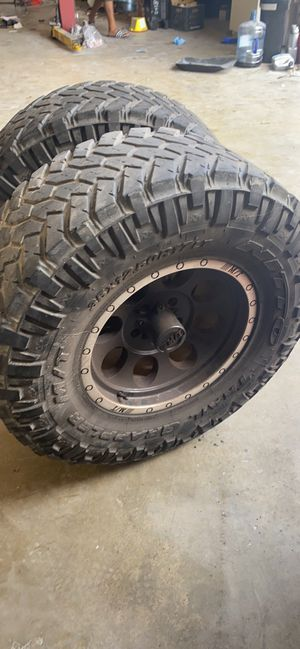 Jeep Wrangler wheels n tires. $700 firm for Sale in Houston, TX