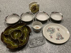 Lot of KITCHEN ceramic items plates, bowls, trays. for Sale in South Miami, FL